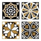 Kolekcja roczników Ornamentacyjni wzory ilustracja wektor