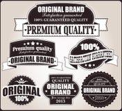 Kolekcja rocznik retro etykietki, odznaki, znaczki, faborki Zdjęcia Stock