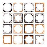 Kolekcja rocznika kwadrata granicy Dekoracyjne ramy royalty ilustracja