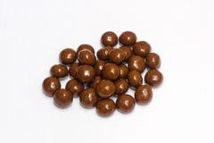 Kolekcja round czekoladowi cukierki Fotografia Royalty Free