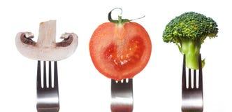 kolekcja rozwidla warzywa Obrazy Stock
