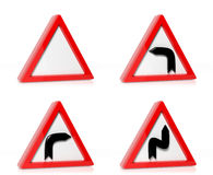 Kolekcja ruchów drogowych znaki Fotografia Royalty Free