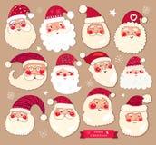 Kolekcja Santa klauzula royalty ilustracja