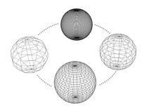 Kolekcja sfery również zwrócić corel ilustracji wektora Fotografia Royalty Free