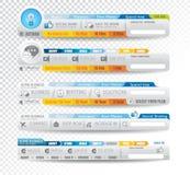 Kolekcja sieć elementy - Różnorodni szablony Obraz Royalty Free