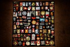 Kolekcja sowieci odznaki zdjęcie stock
