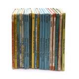 Kolekcja stare dziecko książki na białym tle obrazy stock