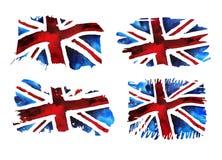 Kolekcja stare grunge flagi dla Zjednoczone Królestwo royalty ilustracja