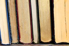 Kolekcja Stare Hardcover książki zdjęcia stock