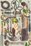 Kolekcja stary rocznika cutlery fotografia stock