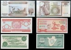 Kolekcja starzy banknoty Środkowy bank państwowy republika Burundi, Afryka Zdjęcie Royalty Free