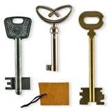 Kolekcja starzy klucze Obrazy Stock