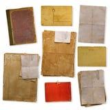 Kolekcja starzy papiery Zdjęcia Royalty Free