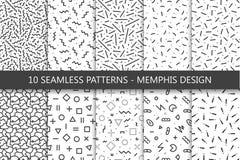 Kolekcja swatches Memphis wzory - bezszwowi Moda 80-90s royalty ilustracja