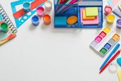 Kolekcja szkolne dostawy Obraz Stock