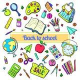 Kolekcja szkolni tematy Zdjęcie Stock