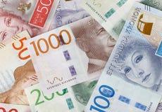 Kolekcja Szwedzcy banknoty Obraz Royalty Free