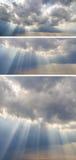 Kolekcja tła z zmierzchu niebem Zdjęcie Royalty Free