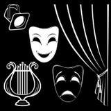 Kolekcja teatralnie charaktery Zdjęcie Royalty Free