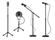 Kolekcja Trwanie Fachowi mikrofony royalty ilustracja
