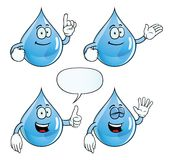 Uśmiechnięty wody kropli set Zdjęcia Stock