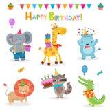Kolekcja Urodzinowi zwierzęta Zdjęcie Stock