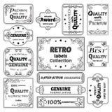 Kolekcja wektor etykietki w retro stylu Fotografia Stock