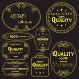 Kolekcja wektor etykietki w retro stylu Obrazy Royalty Free