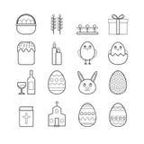 Kolekcja wektor linii Easter ikony dla sieć projekta Fotografia Royalty Free