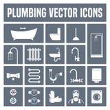 Kolekcja wektorowe instalacj wodnokanalizacyjnych ikony w secie Obraz Stock