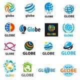 Kolekcja wektorowe logo kule ziemskie Zdjęcia Stock