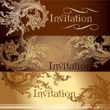 Kolekcja wektorowe zaproszenie karty w rocznika stylu Zdjęcie Stock