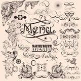 Kolekcja wektorowi dekoracyjni kaligraficzni elementy Zdjęcie Stock