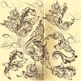 Kolekcja wektorowi kaligraficzni zawijasy Obrazy Stock