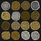 Kolekcja wektorowy drzewnych pierścionków tło Zdjęcia Stock