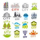 Kolekcja wektorowy miasto logo ilustracja wektor