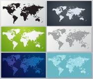 Kolekcja światowej mapy ilustracje Fotografia Stock