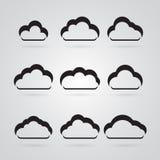 Kolekcja wiele popielate chmury ilustracja wektor