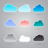 Kolekcja wiele różne chmury royalty ilustracja