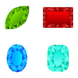 Kolekcja wiele różni kryształy ilustracja wektor