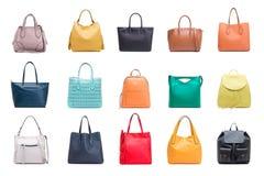 Kolekcja women& x27; s torby Fotografia Stock