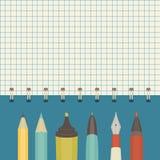 Kolekcja writing narzędzia Obrazy Royalty Free