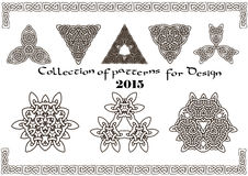 Kolekcja wzory dla projekta 2015 Fotografia Royalty Free