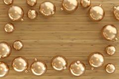 Kolekcja złoci baubles fotografia royalty free