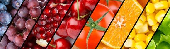 Kolekcja z różnymi owoc, jagodami i warzywami, obraz royalty free