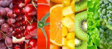 Kolekcja z różnymi owoc, jagodami i warzywami, zdjęcie royalty free