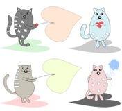 Kolekcja zabawa, śmieszna, kochankowie koty, tam jest miejsce Zdjęcie Stock