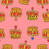 Kolekcja zapas czerwony korona wzór ilustracji