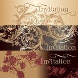 Kolekcja zaproszenie karty w rocznika stylu Fotografia Royalty Free