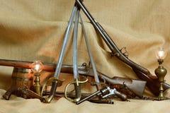 Kolekcja zbroi dwa Obrazy Stock